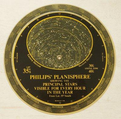 星座早見盤/PHILIPS'PLANISPHERE(イギリス1972年)