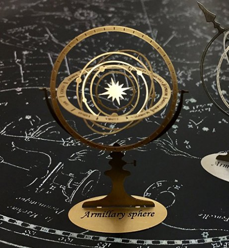 アーミラリー スフィア(天球儀)真鍮製/プチ ミュゼ -手のひらの博物館-