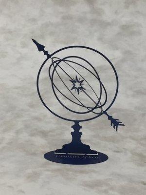 アーミラリー スフィア(天球儀)ブルー 洋白製/プチ ミュゼ -手のひらの博物館-