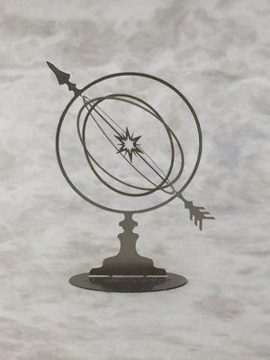 アーミラリー スフィア(天球儀)シルバー/ものづくりの部屋