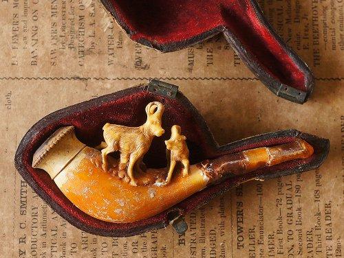 山羊の彫刻のパイプ/イギリス製
