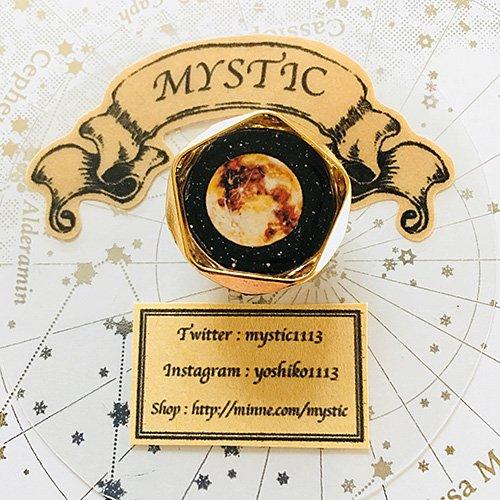 「宇宙プレートブローチ 月」MYSTIC