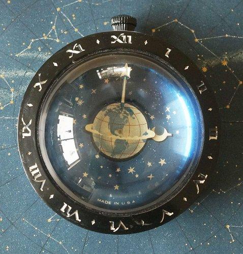 天体ペーパーウェイト・時計(1930年代・アメリカ)