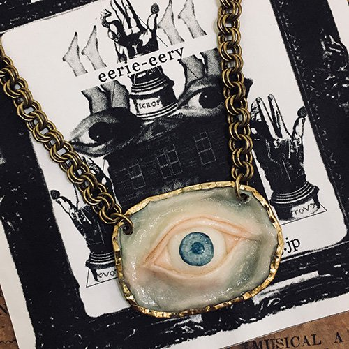 「目のネックレス blue」eerie-eery