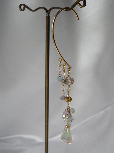 「流れ星のイヤーフック」Beads no moto