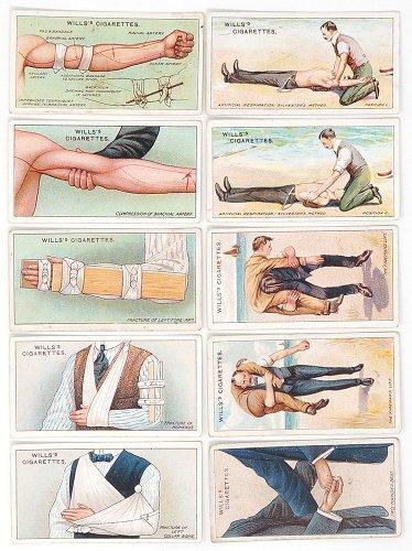 シガレットカード「FIRST AID」10枚セット/イギリス1913年