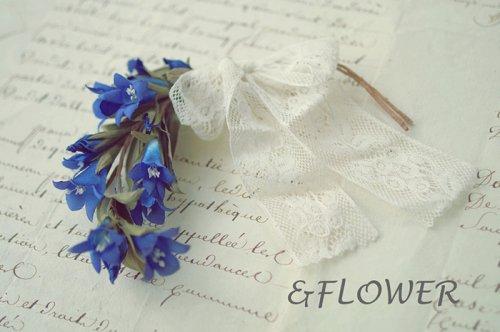 「リンドウのコサージュ」&FLOWER