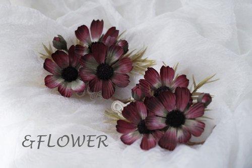 「チョコレートコスモスのコサージュ」&FLOWER