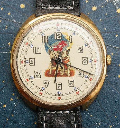 ベルカとストレルカのソビエト製・腕時計