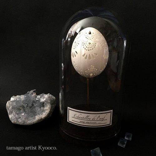 たまごの標本ガラスドーム型A