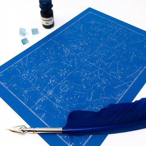 星座図レターパット「青銀」