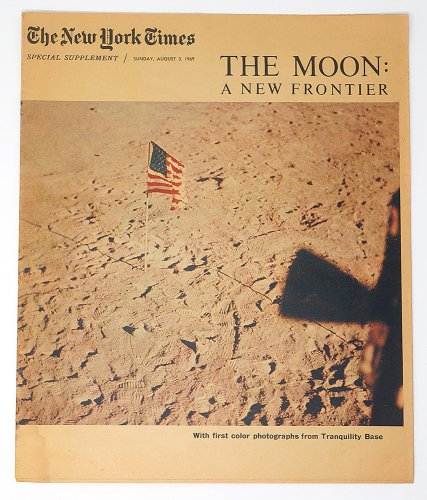 The New York Times「THE MOON:A NEW FRONTIER」/アメリカ1969年8月