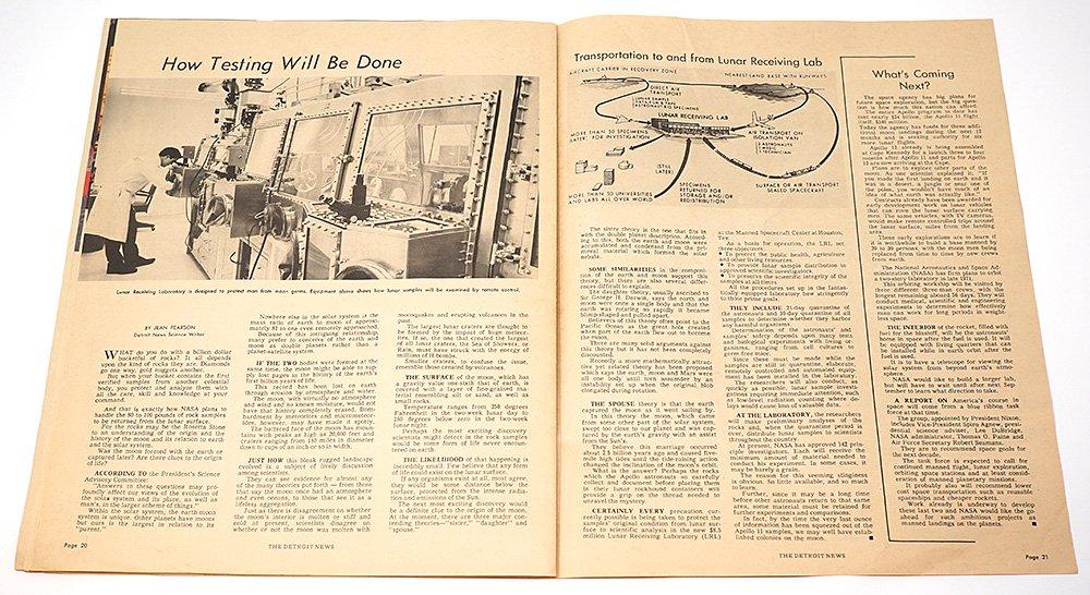 The Detroit News「MAN ON THE MOON」/アメリカ1969年 - Guignol [ギニョール] web shop