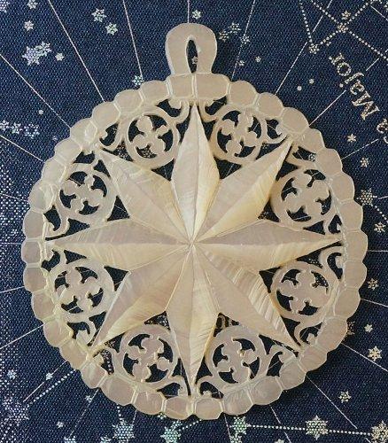 ベツレヘムの星/マザーオブパールのペンダントトップ