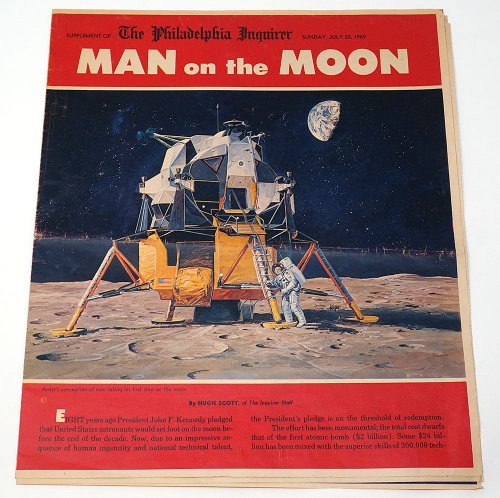 The Philadelphia Inquirer「MAN on the MOON」/アメリカ1969年7月
