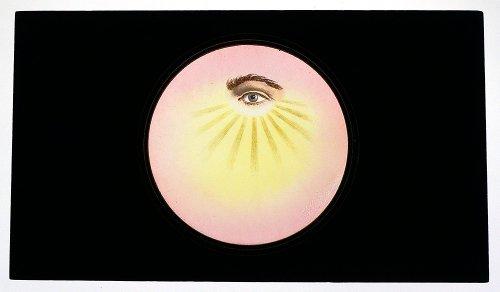 マジックランタン・ガラススライド「All-Seeing Eye.」Odd Fellows