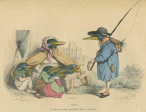 J・J・グランヴィル『現代版変身譚』フランス/1869年