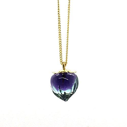 鬼灯ネックレス/ 青×紫
