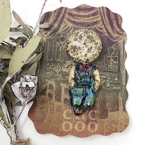 collage dollsブローチ(月×少年)
