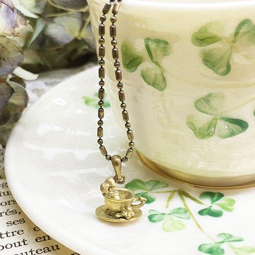 カップのネックレス(真鍮)