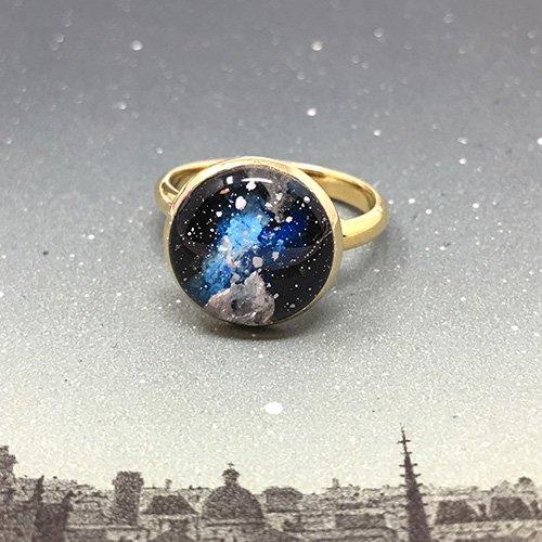 空のカケラの指飾り