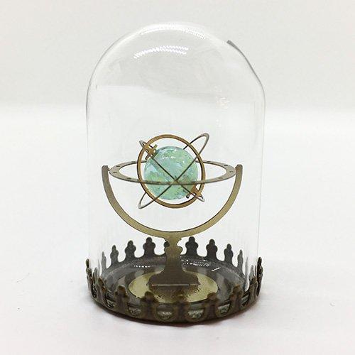 天球儀/蓄光ガラスブルー(ガラスドームオブジェ)/ものづくりの部屋