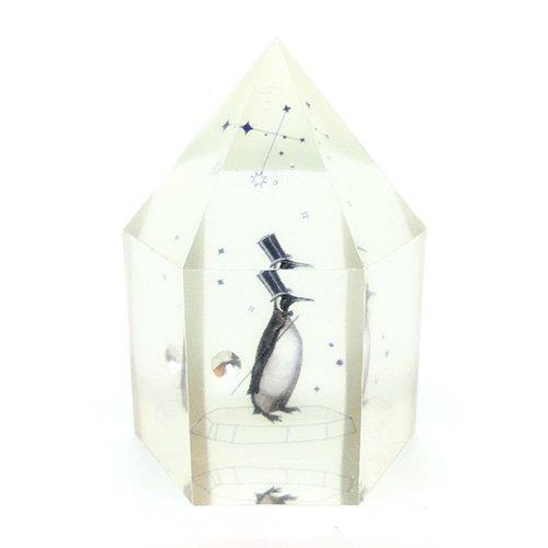 水晶型樹脂オブジェ「南極紳士」/スパン社