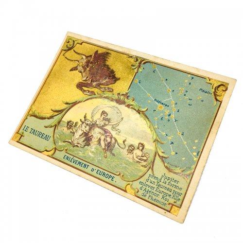 星座のクロモカード(牡牛座)