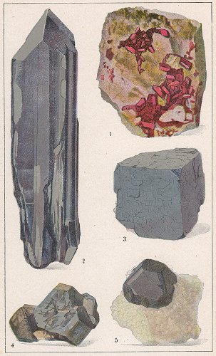 鉱物の図版/ドイツ1900年頃