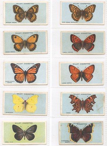 シガレットカード「BRITISH BUTTERFLIES」10枚セット/イギリス1927年