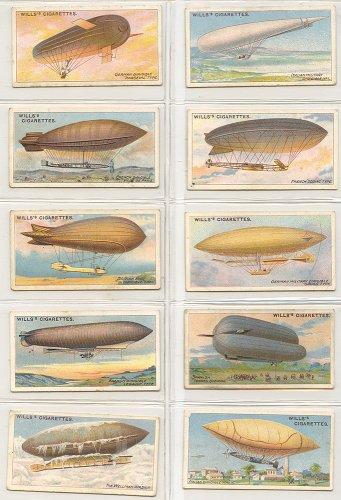 シガレットカード「AVIATION」10枚セット/イギリス1910年