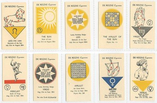 シガレットカード「WHAT THE STARS SAY」 10枚セット/イギリス1934年