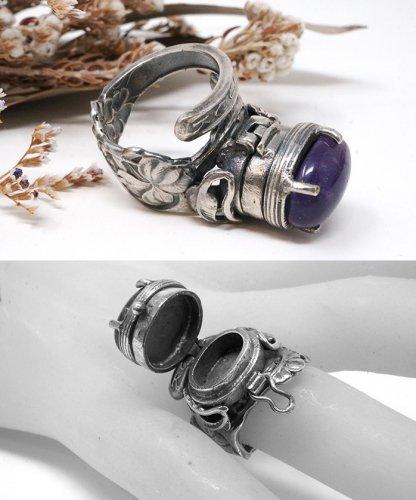 ポイズンリング(紫)/スプーンリング