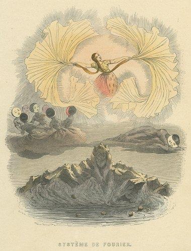 J・J・グランヴィル 「フーリエのシステム」 Le système de Fourier. フランス 1844年