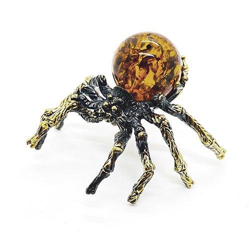 琥珀のオブジェ/蜘蛛A