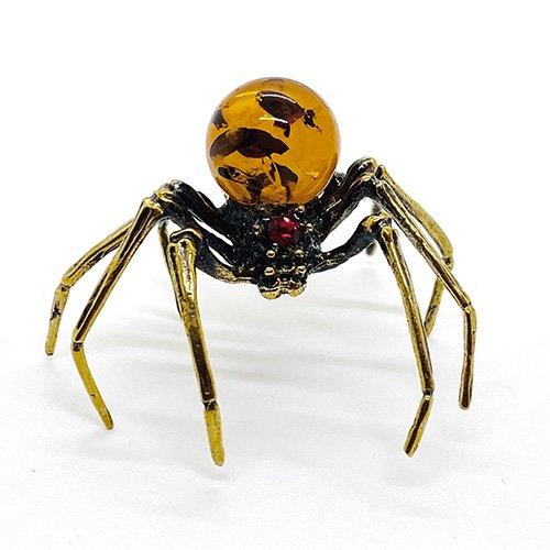 琥珀のオブジェ/蜘蛛B