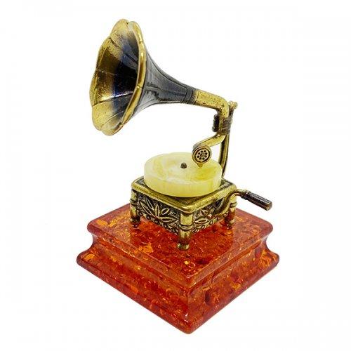 琥珀のオブジェ/蓄音機