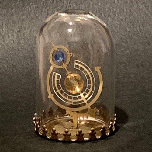 アルビレオ/白鳥座の二重星(ガラスドームオブジェ)/ものづくりの部屋