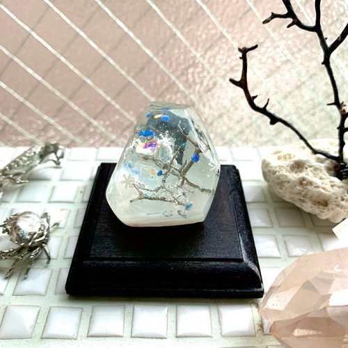 「樹氷の森」樹脂オブジェ/雨花