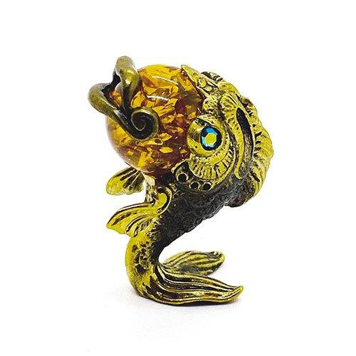 琥珀のオブジェ/魚