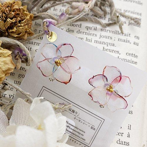 桜の耳飾り(イヤリング)/空想刺繍店