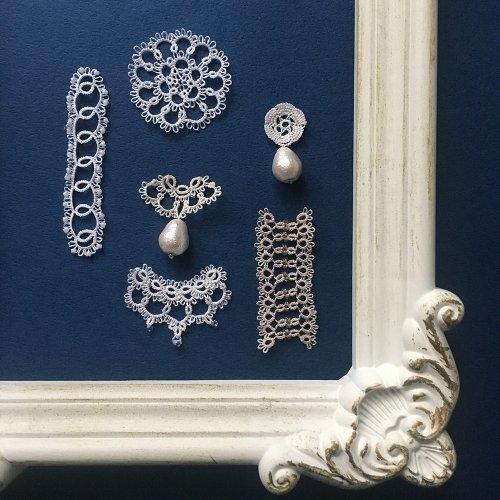 タティングレースモチーフ /Mabel-tatting lace jewelry-(3/6まで期間限定販売)