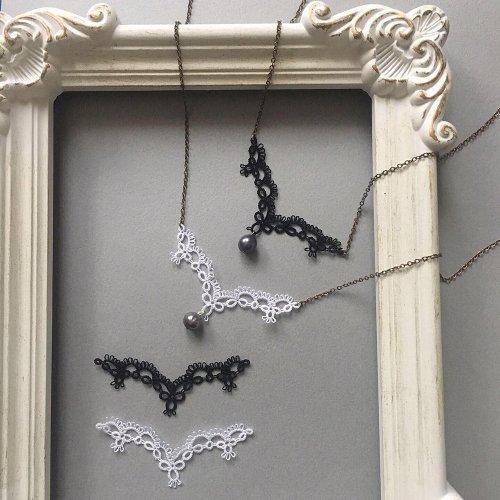 Collar モチーフ・ネックレス /Mabel-tatting lace jewelry-(3/6まで期間限定販売)