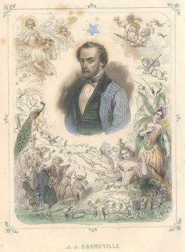 J・J・グランヴィル 「Les Étoiles(星々)」  J.J. GRANDVILLE (フランス1849年)