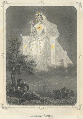 J・J・グランヴィル 「Les Étoiles(星々)」LA BELLE ÉTOILE(フランス1849年)