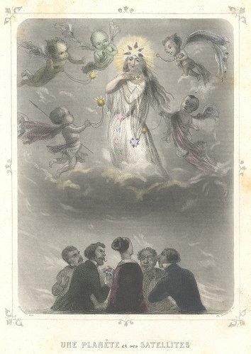 J・J・グランヴィル 「Les Étoiles(星々)」UNE PLANÈTE et ses SATELLITES(フランス1849年)
