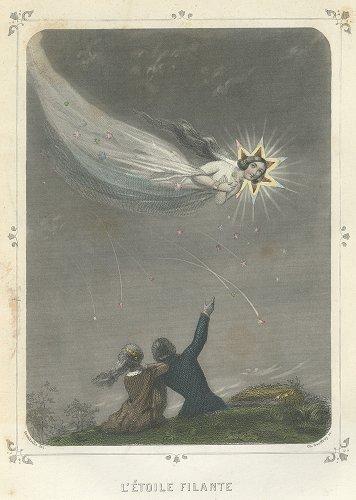 J・J・グランヴィル 「Les Étoiles(星々)」L'ETOILE FILANTE(フランス1849年)