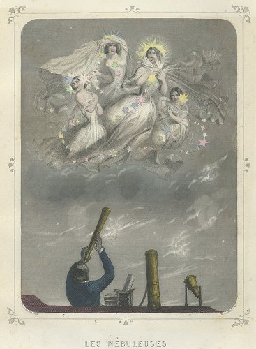 J・J・グランヴィル 「Les Étoiles(星々)」LES NEBULEUSES(フランス1849年)