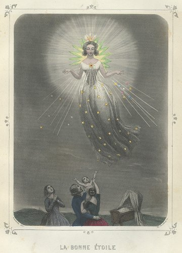 J・J・グランヴィル 「Les Étoiles(星々)」LA BONNE ÉTOILE(フランス1849年)