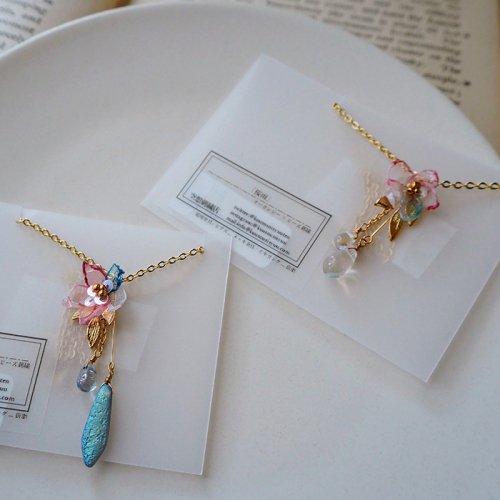 空想刺繍店/「桜雨」(ネックレス)
